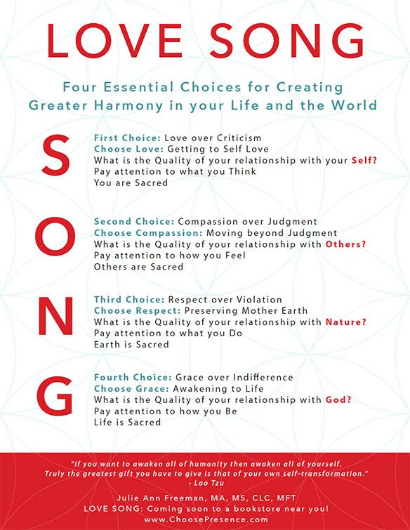 A poster for ChoosePresence.com