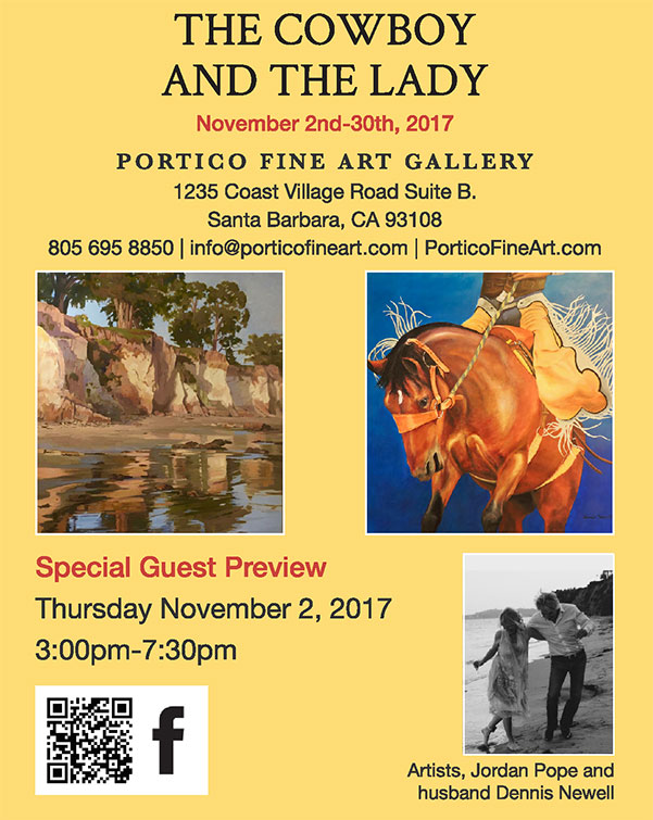 Flyer for Portico Fine Art Gallery