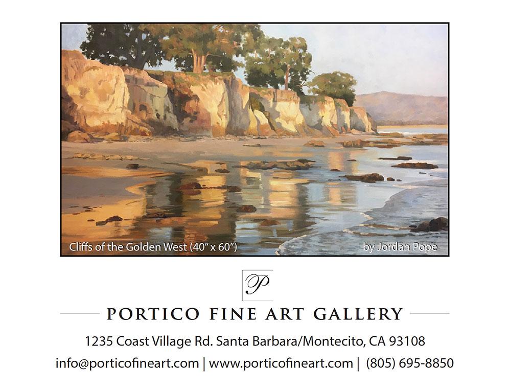 Post card for Portico Fine Art Gallery