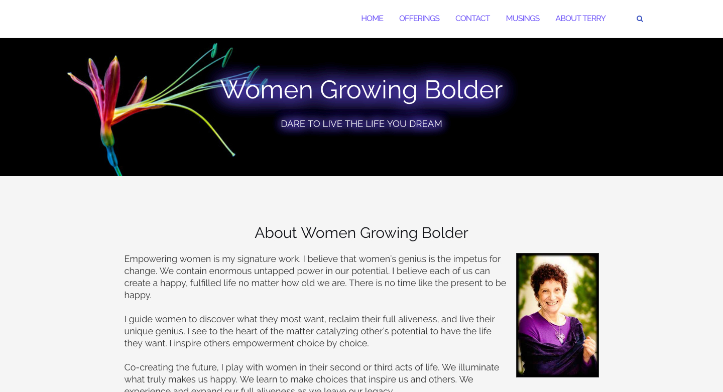 Women Growing Bolder